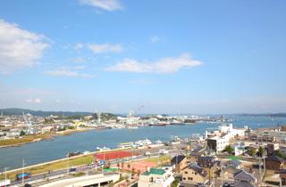 塩竈市の俯瞰図